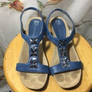 Anne Klein iFlex Rhinestone Sandals